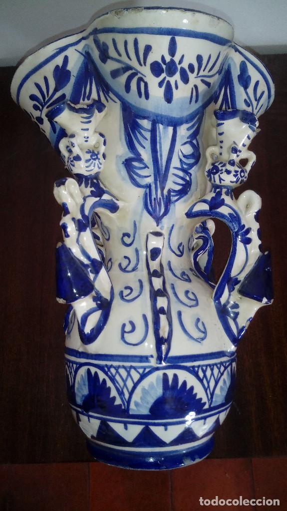 Antigüedades: jarron pp del 1900 ceramica de andujar jaen jarra de estudiante muy bonito 30 cms bien cuidado - Foto 3 - 219571743