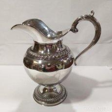 Antiquités: JARRA CON BAÑO DE PLATA ORNAMENTADA. Lote 219586081