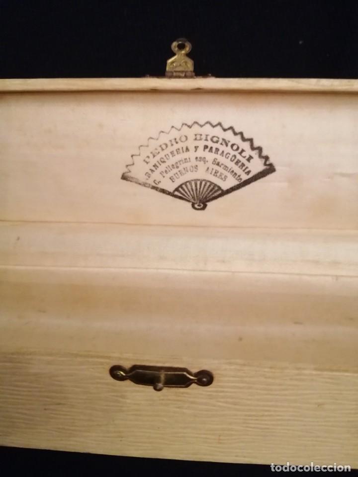 Antigüedades: Abanico marfil y tul - Foto 2 - 219589732