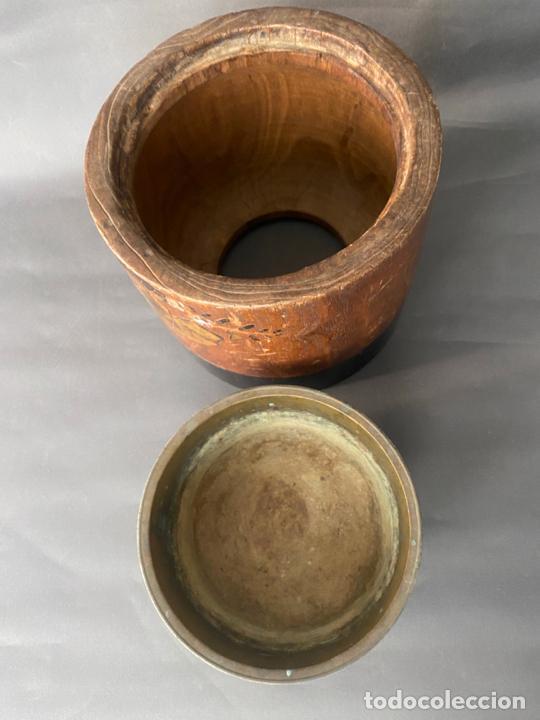 Antigüedades: antique japanese meiji , hibachi brazier , kiri wood , antiguo brasero japonés de 1900 aprox. - Foto 7 - 219621488