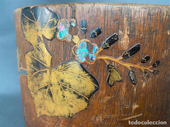 Antigüedades: antique japanese meiji , hibachi brazier , kiri wood , antiguo brasero japonés de 1900 aprox. - Foto 8 - 219621488