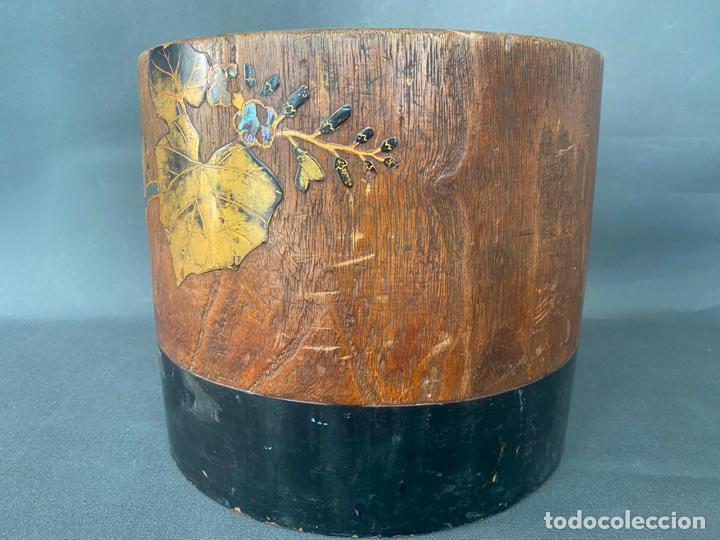 Antigüedades: antique japanese meiji , hibachi brazier , kiri wood , antiguo brasero japonés de 1900 aprox. - Foto 9 - 219621488