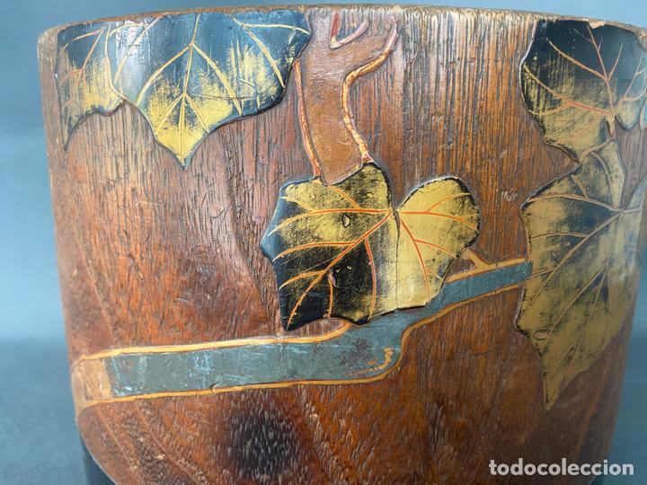 Antigüedades: antique japanese meiji , hibachi brazier , kiri wood , antiguo brasero japonés de 1900 aprox. - Foto 12 - 219621488