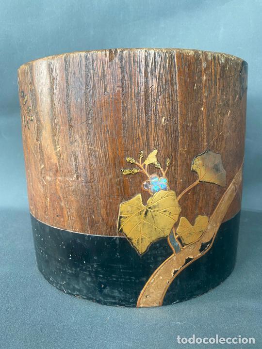 Antigüedades: antique japanese meiji , hibachi brazier , kiri wood , antiguo brasero japonés de 1900 aprox. - Foto 13 - 219621488