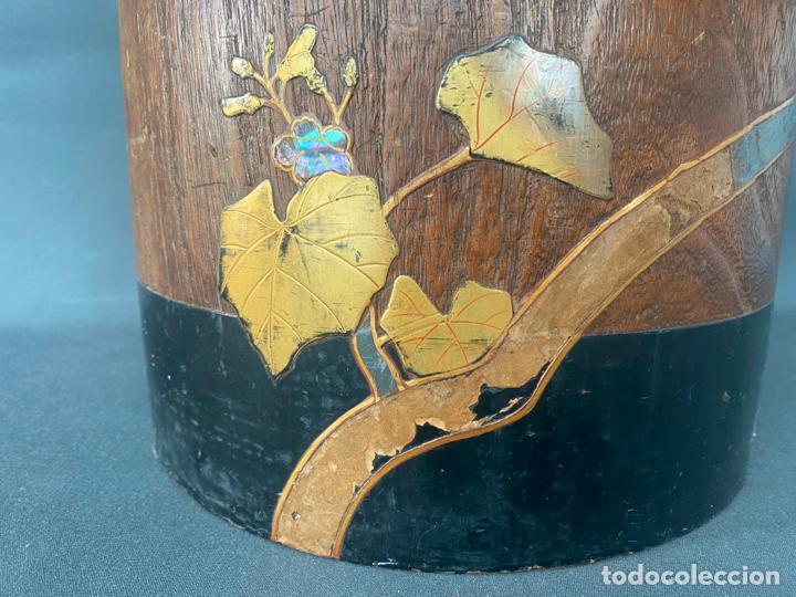 Antigüedades: antique japanese meiji , hibachi brazier , kiri wood , antiguo brasero japonés de 1900 aprox. - Foto 14 - 219621488