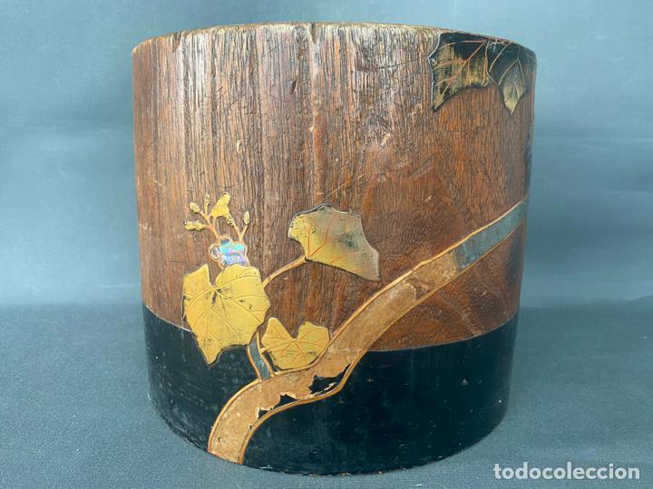 ANTIQUE JAPANESE MEIJI , HIBACHI BRAZIER , KIRI WOOD , ANTIGUO BRASERO JAPONÉS DE 1900 APROX. (Antigüedades - Hogar y Decoración - Maceteros Antiguos)