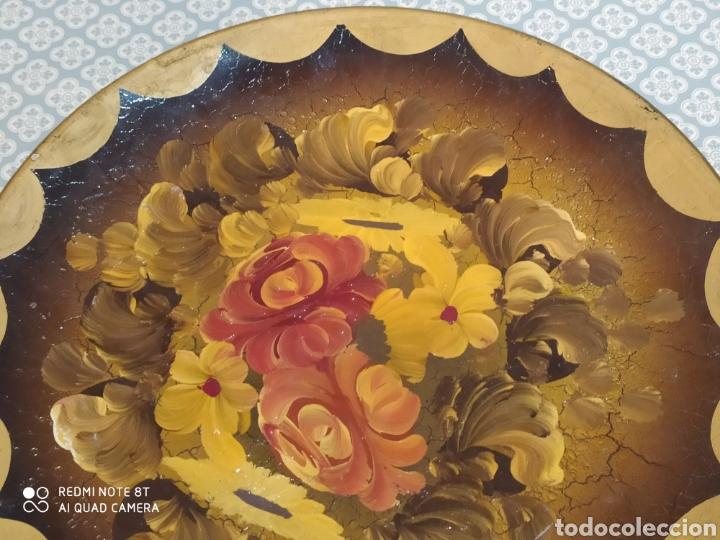 Antigüedades: Espectacular plato de cerámica pintado a mano siglo XIX - Foto 2 - 219623951