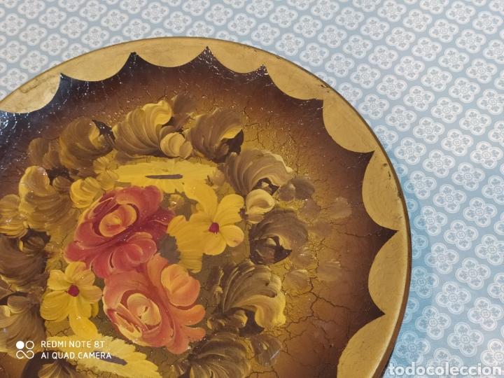 Antigüedades: Espectacular plato de cerámica pintado a mano siglo XIX - Foto 5 - 219623951