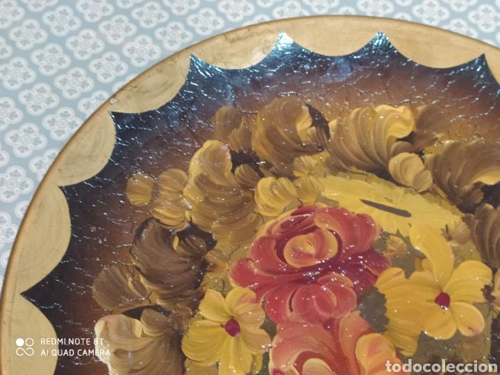 Antigüedades: Espectacular plato de cerámica pintado a mano siglo XIX - Foto 6 - 219623951