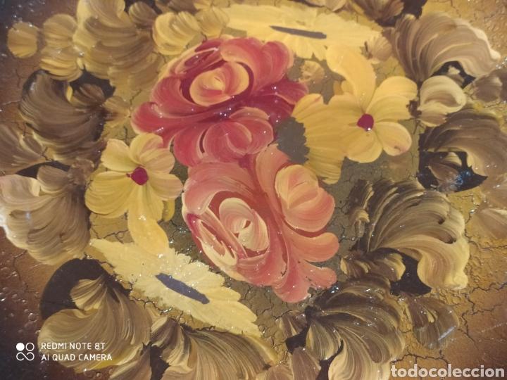 Antigüedades: Espectacular plato de cerámica pintado a mano siglo XIX - Foto 7 - 219623951