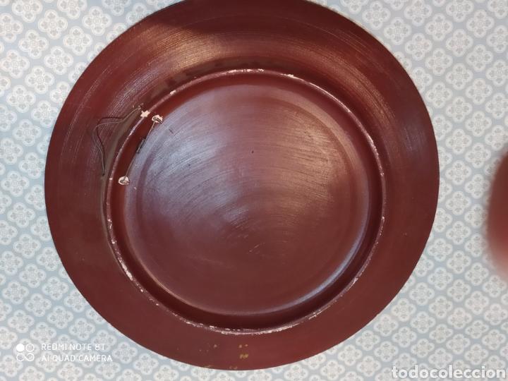 Antigüedades: Espectacular plato de cerámica pintado a mano siglo XIX - Foto 8 - 219623951