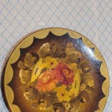 Antigüedades: ESPECTACULAR PLATO DE CERÁMICA PINTADO A MANO SIGLO XIX. Lote 219623951