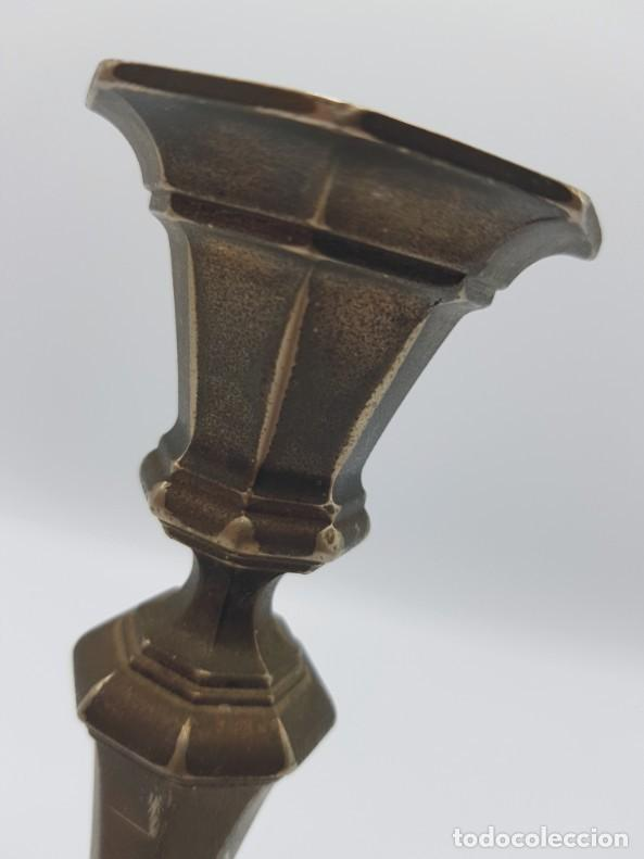 Antigüedades: Candelabro metal // baño plata / esmerilado - Foto 3 - 219709341