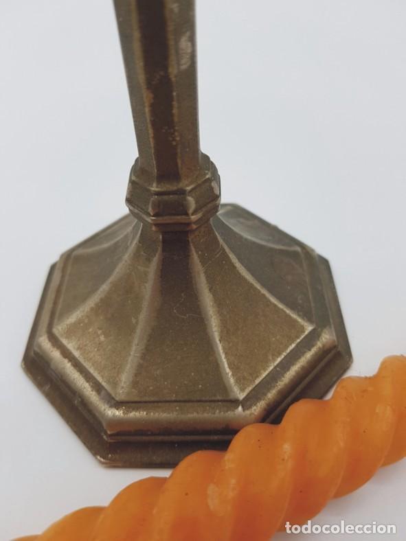 Antigüedades: Candelabro metal // baño plata / esmerilado - Foto 4 - 219709341