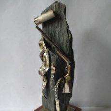 Antigüedades: TROFEO TIRO AL PLATO, 1978, BAÑO PLATA.. Lote 219755450
