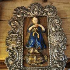 Antigüedades: ANTIGUO Y PRECIOSO RELICARIO NIÑO JESUS, 19X29 CMS. Lote 219820976