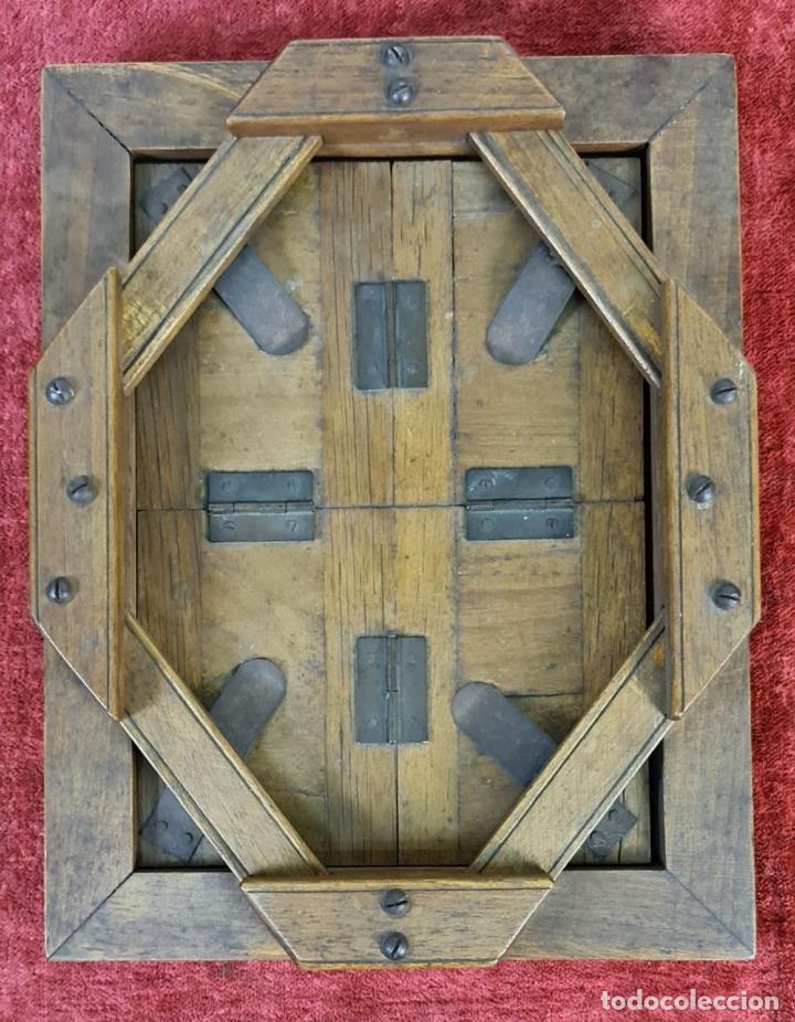 Antigüedades: ANTIGUA PLACA FOTOGRÁFICA. HIJOS DE JOSE TEIXIDOR. MADERA Y METAL. SIGLO XX. - Foto 3 - 219843030