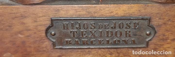 Antigüedades: ANTIGUA PLACA FOTOGRÁFICA. HIJOS DE JOSE TEIXIDOR. MADERA Y METAL. SIGLO XX. - Foto 7 - 219843030