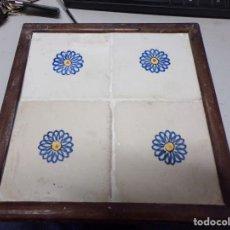 Antigüedades: PLAFON ANTIGUO AZULEJOS CATALANES. Lote 219860336