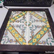 Antigüedades: PLAFON ANTIGUO AZULEJOS CATALANES. Lote 219860548