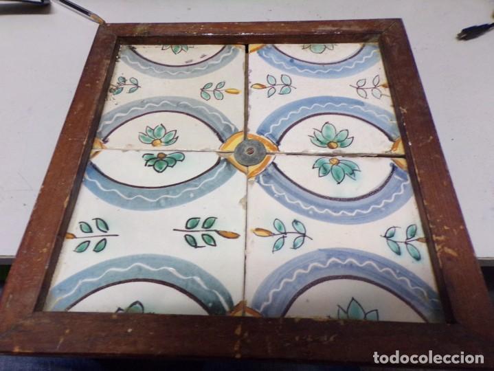 PLAFON ANTIGUO AZULEJOS CATALANES (Antigüedades - Porcelanas y Cerámicas - Azulejos)