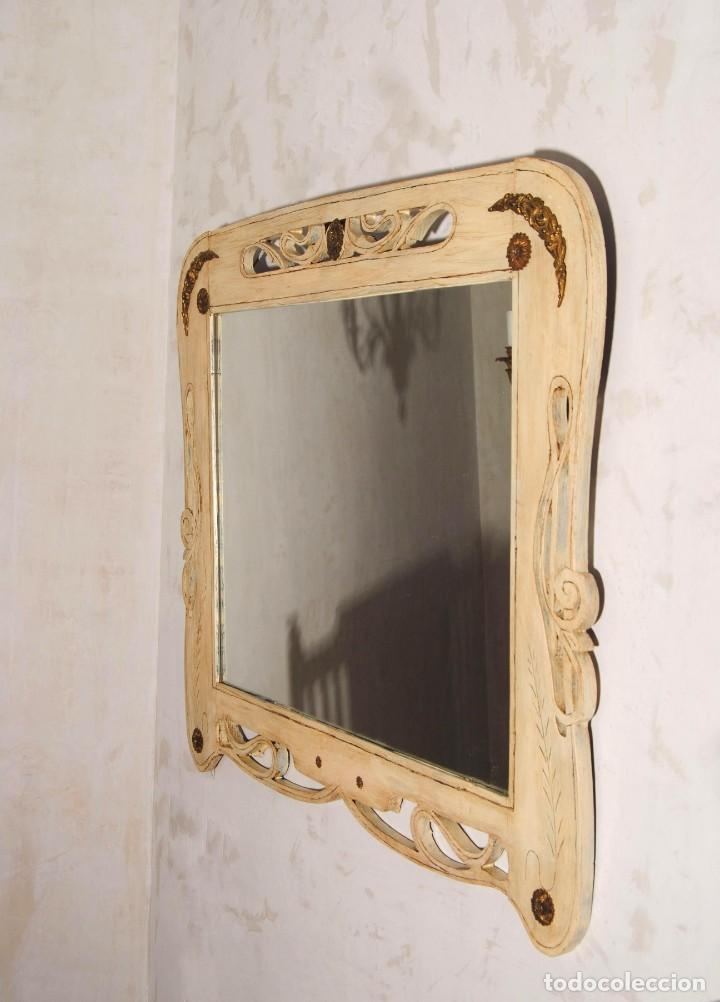 Antigüedades: Antiguo Espejo Recuperado - Foto 2 - 219864830