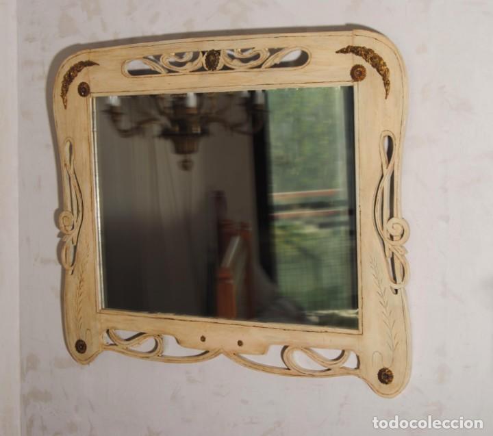 Antigüedades: Antiguo Espejo Recuperado - Foto 5 - 219864830