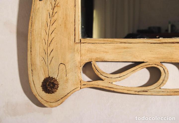 Antigüedades: Antiguo Espejo Recuperado - Foto 6 - 219864830