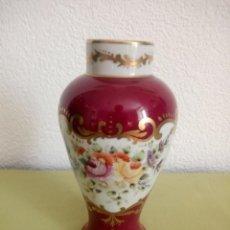 Antigüedades: PRECIOSO JARRON DE PORCELANA PINTADO A MANO PORCELAINE DE B H VINCENNES FRANCE,LIMOGES. Lote 219874345