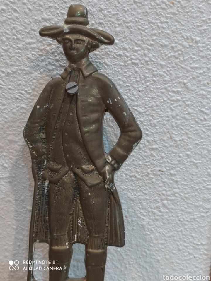 Antigüedades: Precioso perchero de bronce caballero siglo XIX - Foto 5 - 219875040