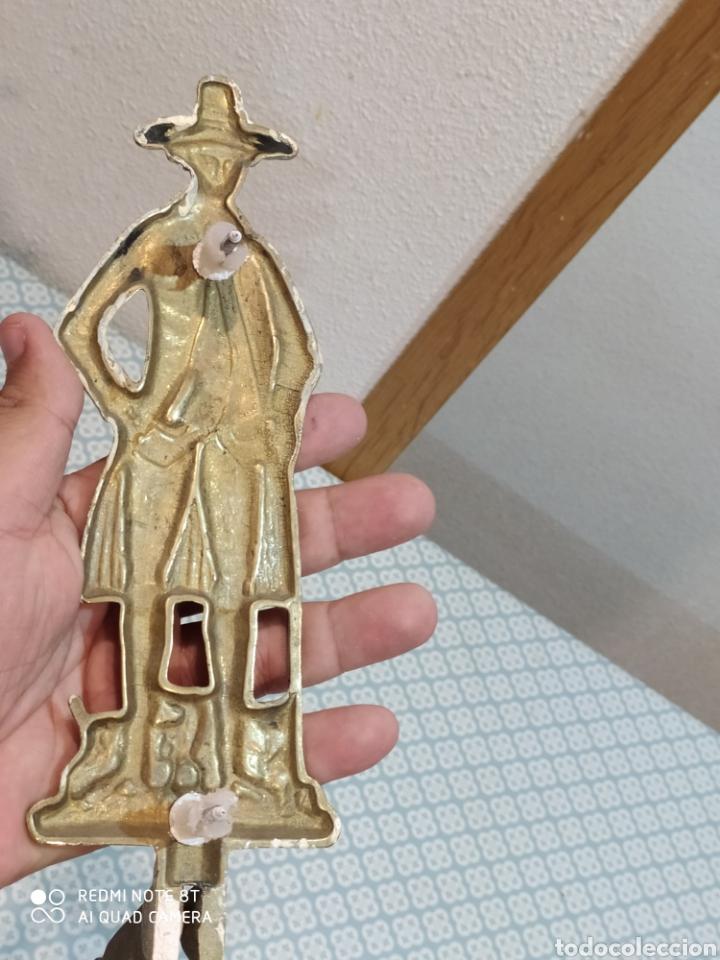 Antigüedades: Precioso perchero de bronce caballero siglo XIX - Foto 7 - 219875040