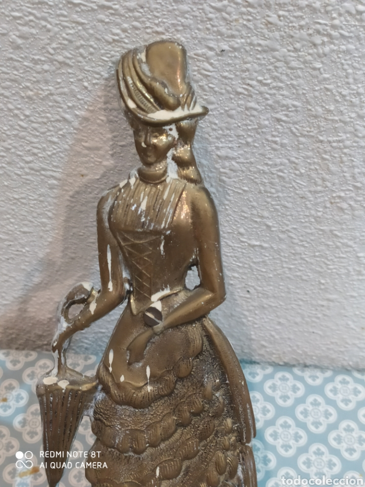 Antigüedades: Espectacular perchero de bronce señora de época siglo XIX - Foto 3 - 219875836
