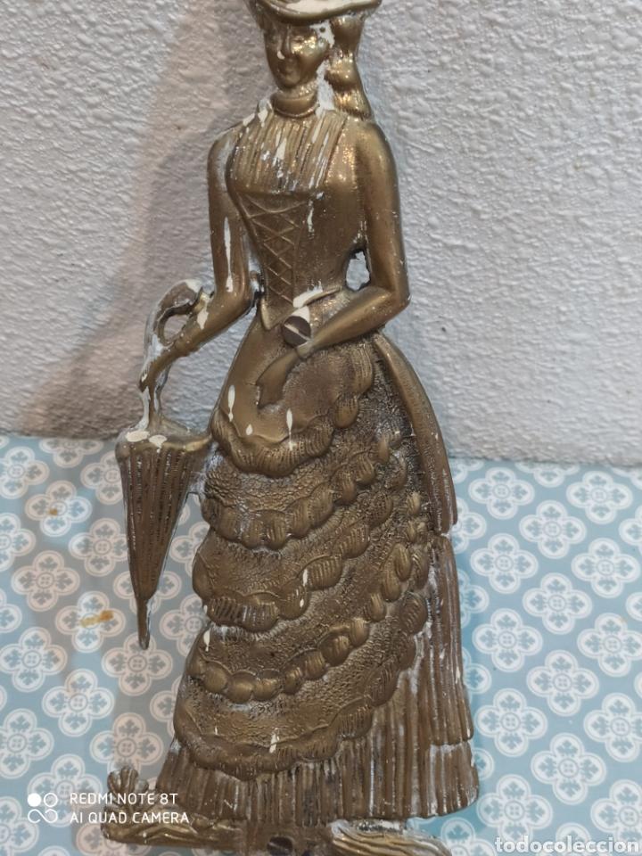 Antigüedades: Espectacular perchero de bronce señora de época siglo XIX - Foto 4 - 219875836