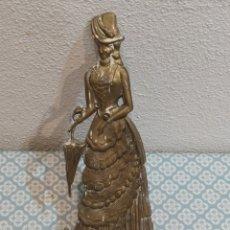 Antigüedades: ESPECTACULAR PERCHERO DE BRONCE SEÑORA DE ÉPOCA SIGLO XIX. Lote 219875836