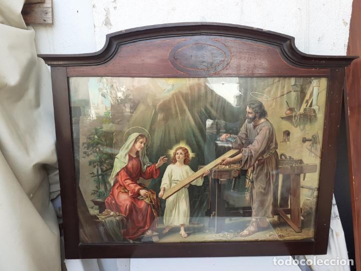 Antigüedades: marco antiguo con lamina religiosa - Foto 3 - 219881823