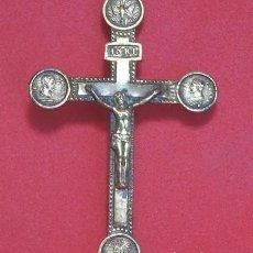 Antigüedades: CRUCIFIJO BRONCE SIGLO XIX. Lote 219903085