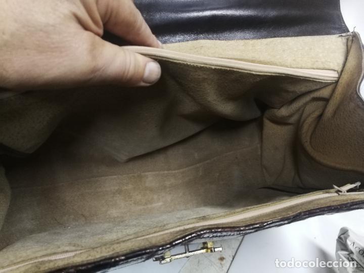 Antigüedades: UNICO TC ANTIGUO BOLSO DE PIEL TIPO CONSTANCE HERMES PARIS MAGNIFICO, AÑOS 60 - Foto 28 - 281845533