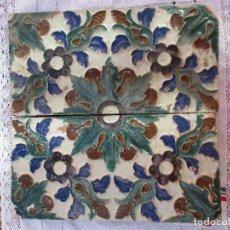 Antigüedades: PAREJA DE AZULEJOS MUY ANTIGUA Y GRUESOS. Lote 220062076