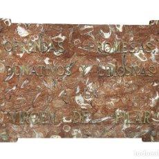 Antigüedades: MÁRMOL DE OFRENDAS , PROMESAS, DONATIVOS A LA VIRGEN DEL PILAR, ORIGINAL DEL PILAR,S.XIX. Lote 220099270