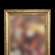 Antigüedades: MARAVILLOSO ESPEJO ISABELINO AL ORO FINO CON MOTIVOS VEGETALES, 110 X 95 X 3, S. XIX. Lote 220100601
