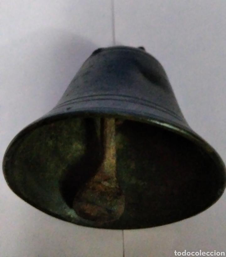 Antigüedades: ANTIGUA CAMPANA DE BRONCE. - Foto 2 - 220102105