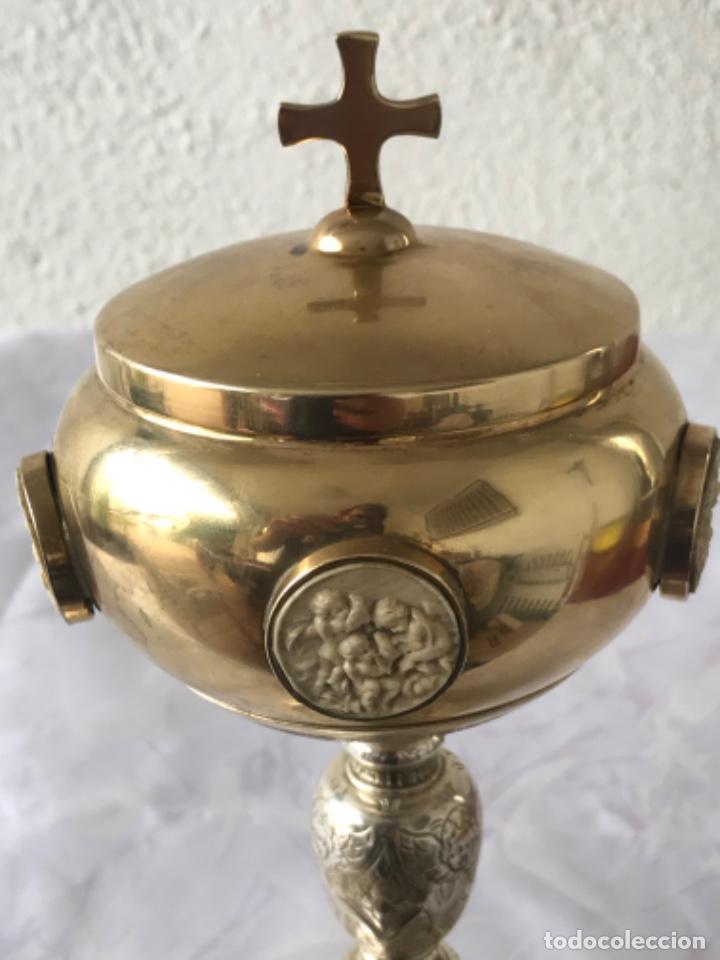 Antigüedades: IMPORTANTE COPON O CALIZ DE PLATA Y MARFIL PRINCIPIOS DEL S.XIX. VER FOTOS ANEXAS. - Foto 2 - 220191346