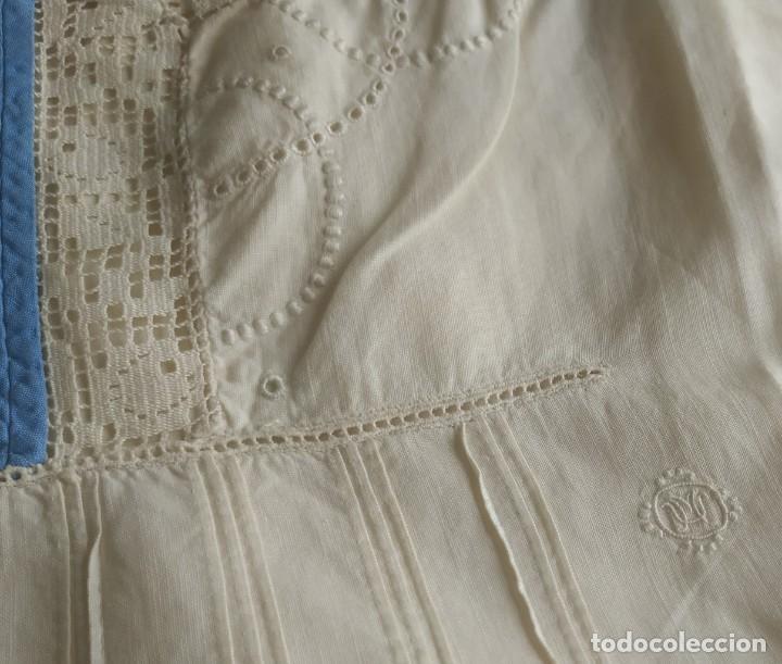 Antigüedades: Lote de dos camisas camisetas interiores de mujer. Algodón. Principios s. XX - Foto 12 - 220298776