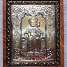 Antigüedades: CUADRO EN RELIEVE DE ORO Y PLATA DEL APOSTOL SANTIAGO DE GUERRINI ITALIA. Lote 220355856