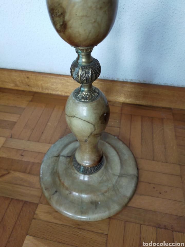 Antigüedades: Cenicero de pié en alabastro - Foto 2 - 220358301