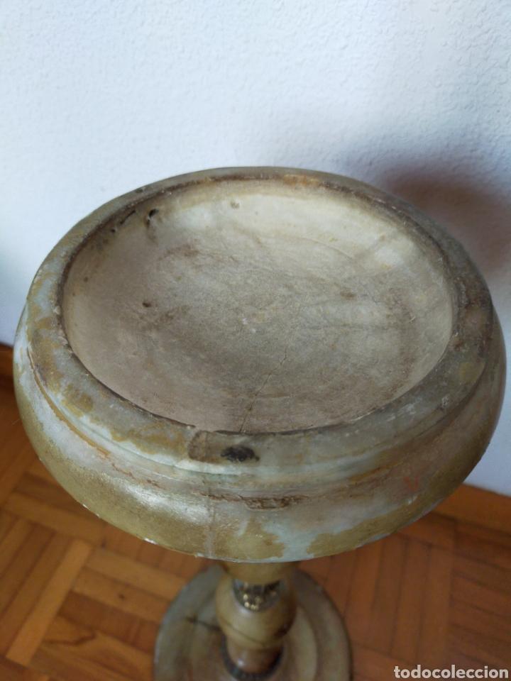 Antigüedades: Cenicero de pié en alabastro - Foto 4 - 220358301