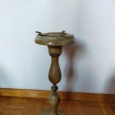 Antigüedades: CENICERO DE PIÉ EN ALABASTRO. Lote 220358301