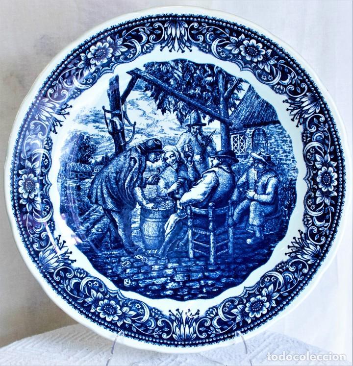 FANTÁSTICO PLATO DELFTS BOCH LA LOUVIERE. (Antigüedades - Porcelana y Cerámica - Holandesa - Delft)