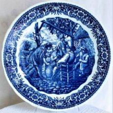Antigüedades: FANTÁSTICO PLATO DELFTS BOCH LA LOUVIERE.. Lote 220375055
