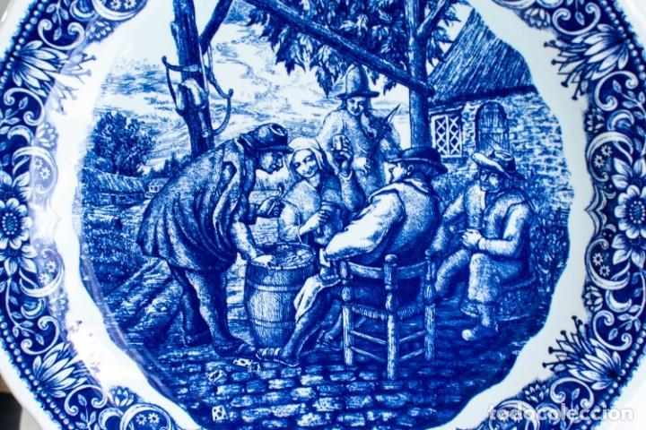 Antigüedades: Fantástico Plato Delfts Boch La Louviere. - Foto 4 - 220375055